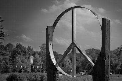 Peace Sign Woodstock Hall of Fame Plastic Sign Plastic Sign