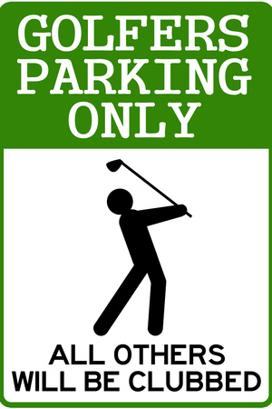 Golfers Parking Only Sign Sports Plastic Sign Plastic Sign