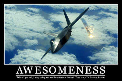 Awesomeness Motivational Funny Barney Stinson Quote Print Plastic Sign Plastskylt