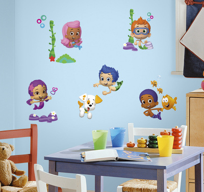 Bubble Guppies Peel and Stick Wall Decals Wall Decal