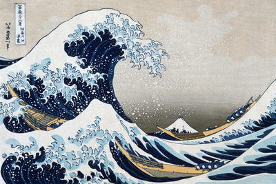 Katsushika Hokusai The Great Wave at Kanagawa (from 36 views of Mount Fuji), c.1829 Plastic Sign Plastic Sign by Katsushika Hokusai