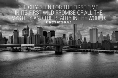 F. Scott Fitzgerald New York Quote Plastic Sign Plastic Sign