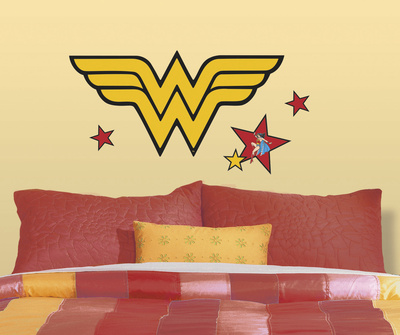 Classic Wonder Woman Logo Peel and Stick Giant Wall Decals Wall Decal