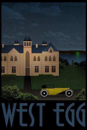 West Egg Retro Travel Plastic Sign Plastic Sign