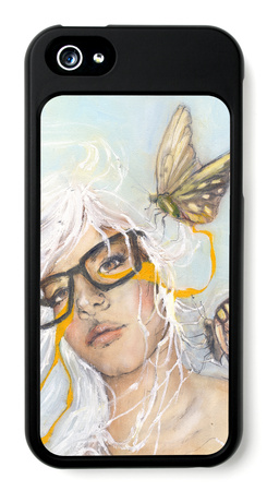 Preserve female drawing iPhone case design artwork by Charmaine Olivia