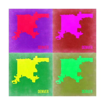 Denver DC Pop Art Map 2 Prints by  NaxArt