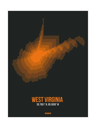 West Virginia Radiant Map 5 Art by  NaxArt
