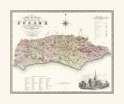 Sussex Premium Giclee Print by C.J. Greenwood