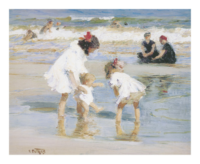 Children Playing At The Seashore Premium Giclee Print by Edward Henry Potthast