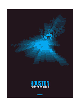 Houston Radiant Map 1 Posters by  NaxArt