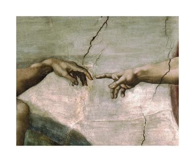 Creation of Adam - Detail Premium Giclee Print by  Michelangelo