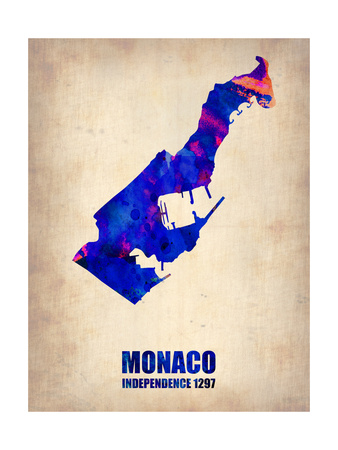 Monaco Watercolor Poster Art by  NaxArt
