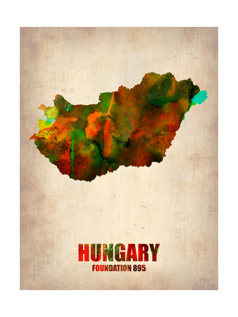 Hungary Watercolor Poster Prints by  NaxArt