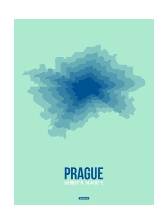 Prague Radiant Map 4 Prints by  NaxArt