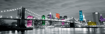 Neon City I Stampa giclée di Joseph Eta