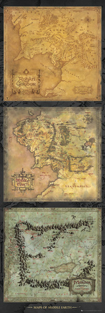 Lord Of The Rings - Maps Affiches