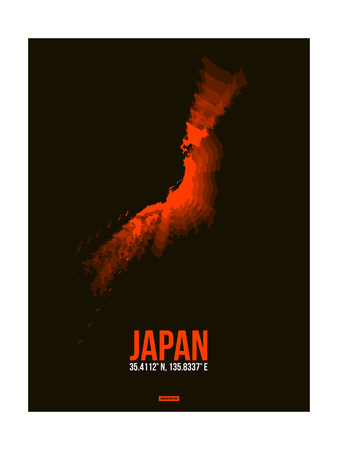 Japan Radiant Map 1 Prints by  NaxArt