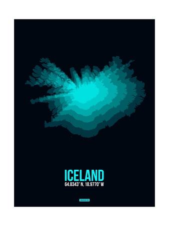 Iceland Radiant Map 2 Prints by  NaxArt