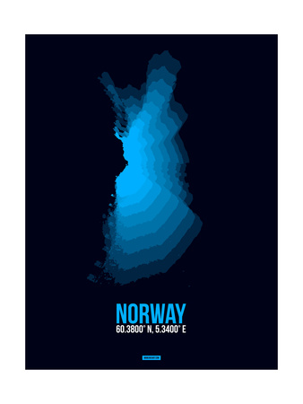 Norway Radiant Map 2 Posters by  NaxArt
