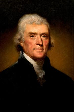 Thomas Jefferson Portrait Historic Plastic Sign Plastic Sign