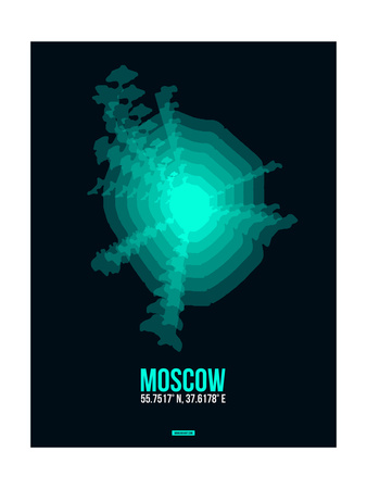 Moscow Radiant Map 3 Posters by  NaxArt