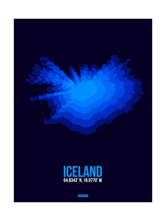 Iceland Radiant Map 3 Posters by  NaxArt