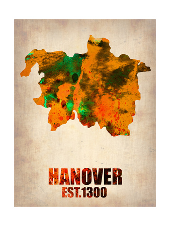 Hanover Watercolor Poster Art by  NaxArt!