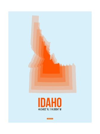 Idaho Radiant Map 1 Prints by  NaxArt