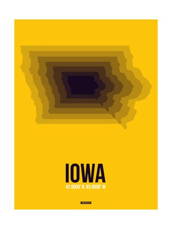 Iowa Radiant Map 3 Posters by  NaxArt