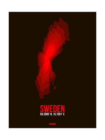 Sweden Radiant Map 1 Prints by  NaxArt
