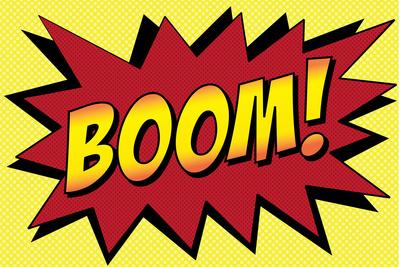 Boom! Comic Pop-Art Plastic Sign Plastic Sign