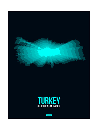 Turkey Radiant Map 3 Prints by  NaxArt
