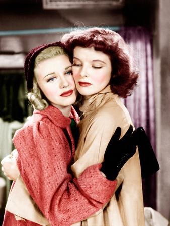 STAGE DOOR, from left: Ginger Rogers, Katharine Hepburn, 1937 Photo