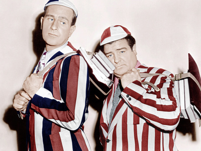 HERE COME THE CO-EDS, from left: Bud Abbott, Lou Costello, 1945 Photo