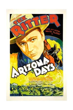 ARIZONA DAYS, Tex Ritter, 1937 Prints