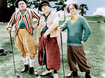 THREE LITTLE BEERS, from left: Curly Howard, Moe Howard, Larry Fine [the Three Stooges], 1935 Photo