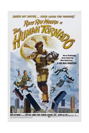 THE HUMAN TORNADO, US poster, Rudy Ray Moore, 1976 Prints