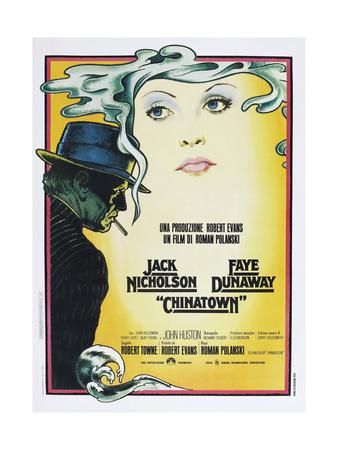 Chinatown, Italian poster, Jack Nicholson, Faye Dunaway, 1974 Prints