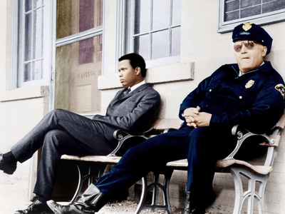 In the Heat of the Night, Sidney Poitier, Rod Steiger, 1967 Foto