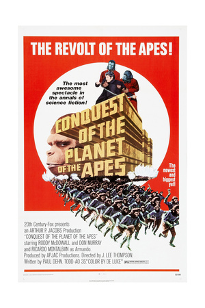CONQUEST OF THE PLANET OF THE APES, US poster, Don Murray (shackled), 1972 Prints