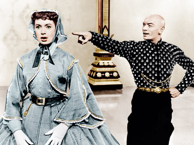 THE KING AND I, from left: Deborah Kerr, Yul Brynner, 1956. Photo