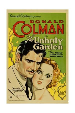 THE UNHOLY GARDEN, from left: Ronald Colman, Fay Wray, 1931. Prints