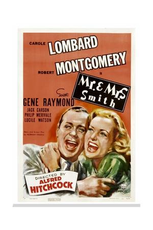 MR. AND MRS. SMITH, Robert Montgomery, Carole Lombard, 1941. Art