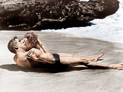 From Here to Eternity, Burt Lancaster, Deborah Kerr, 1953 Photo
