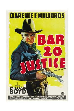 BAR 20 Justice, William Boyd, 1938 Poster