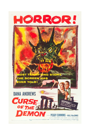 Curse of the Demon (aka Night of the Demon), Peggy Cummins, Dana Andrews, 1957 Prints