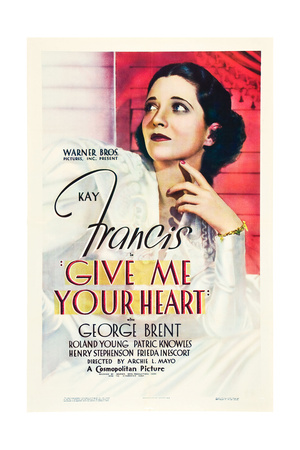 GIVE ME YOUR HEART, US poster art, Kay Francis, 1936 Prints