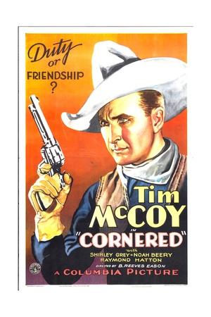 CORNERED, Tim McCoy, 1932 Posters
