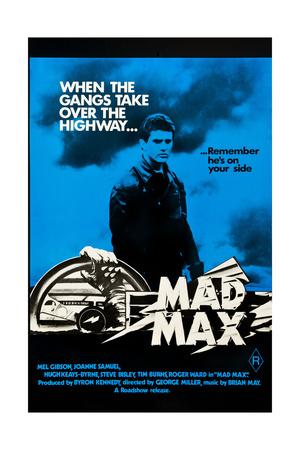 Mad Max, Mel Gibson on Australian poster art, 1979 Prints