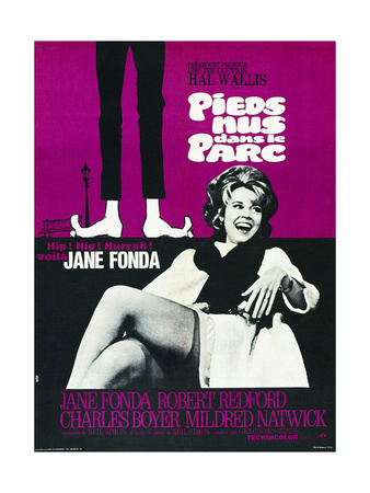 BAREFOOT IN THE PARK, (aka PIEDS NUS DANS LE PARC), French poster, Jane Fonda, 1967 Print